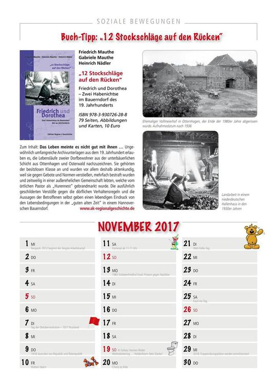 Kalender Soziale Bewegungen 2017