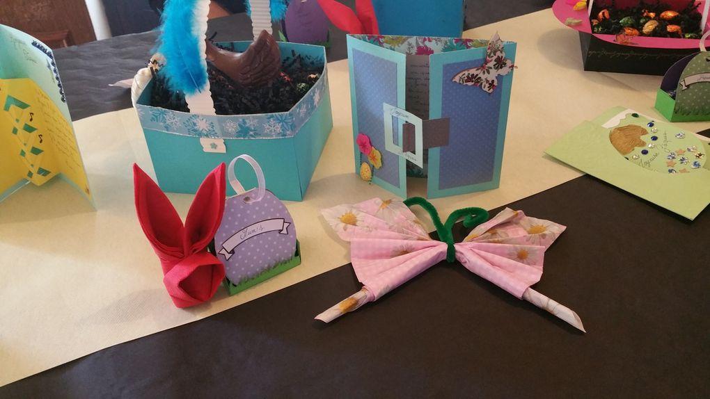 Décoration de table &#x3B; pâques &#x3B; 2015 &#x3B; Panier &#x3B; Cartes &#x3B; Origami &#x3B; Serviette &#x3B; Boite à bonbons