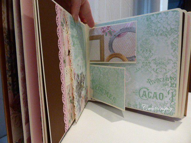 """Grand """"mini album"""" pour photos et souvenirs façon scrapbooking"""