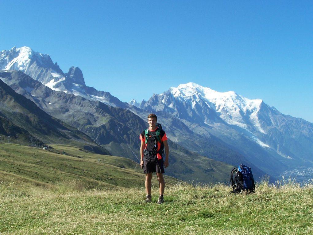 Depuis le col de la Balme : Aiguille Verte, Drus, Mont Blanc...SUPERBE