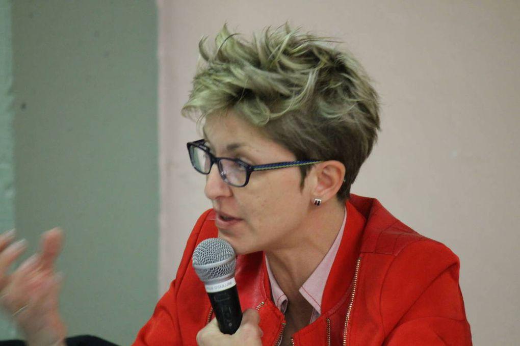 Vues de la salle, des candidats à la législative et F. Boccara