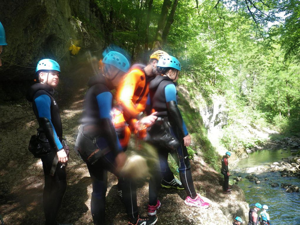 Séjour dans le jura - activité canyoning