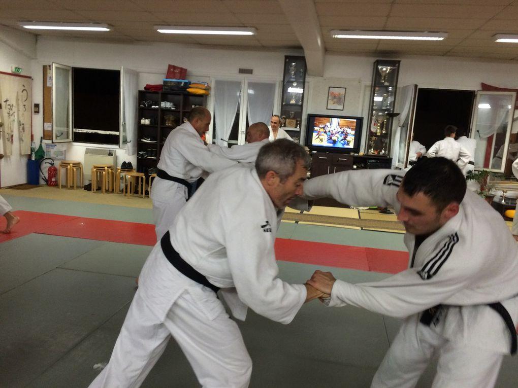 Entraînement avec les judokas d'Aix les Bains