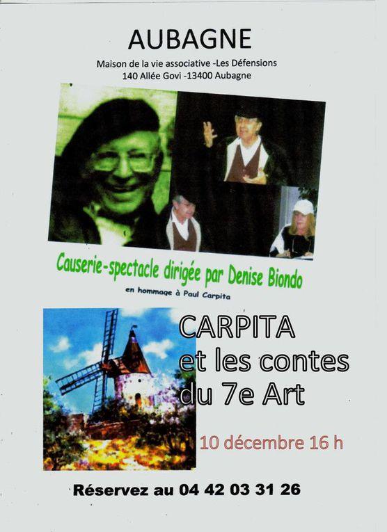 Invitation aux lectures spectacles de Pp : présentation de Denise Biondo, mise en scène Danyel Camoin avec la participation de Guy Feugier et Alain d'Aix.