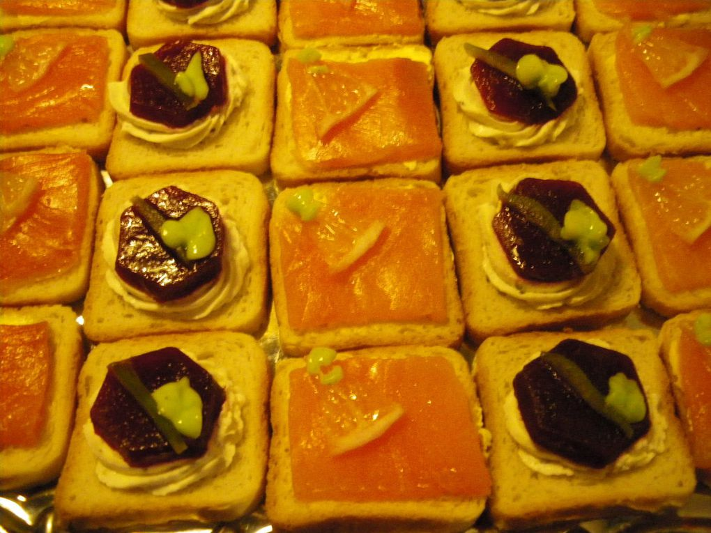 Toasts au saumon fumés