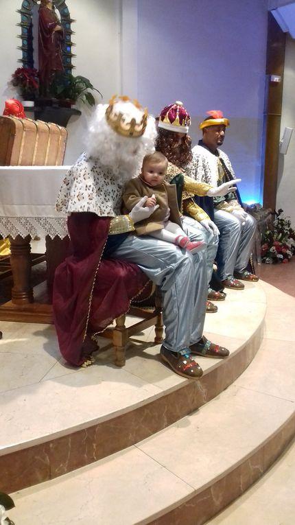 Sus Majestades, los Reyes Magos, visitan la Parroquia