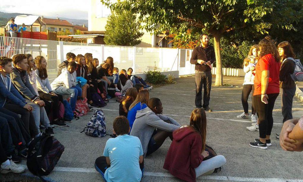 Natura i poesia per la diada de cohesio 4rta i 3era Català a Sant Marti del Canigo