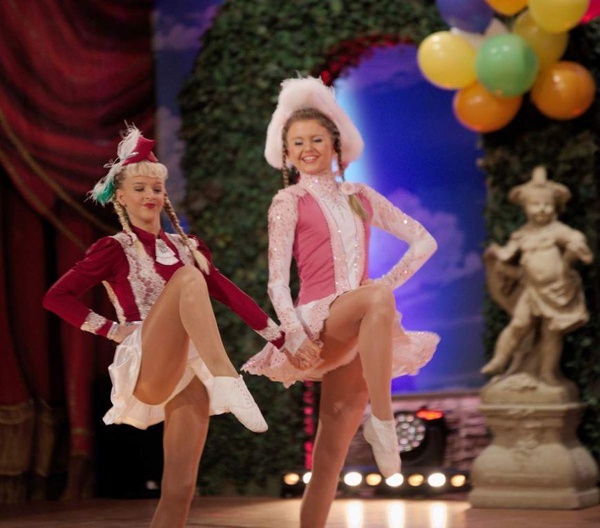 Fantastisch die beiden Tanzmariechen Katharina Theil (Oberasbach) und Liana Wolf (Schwabach)