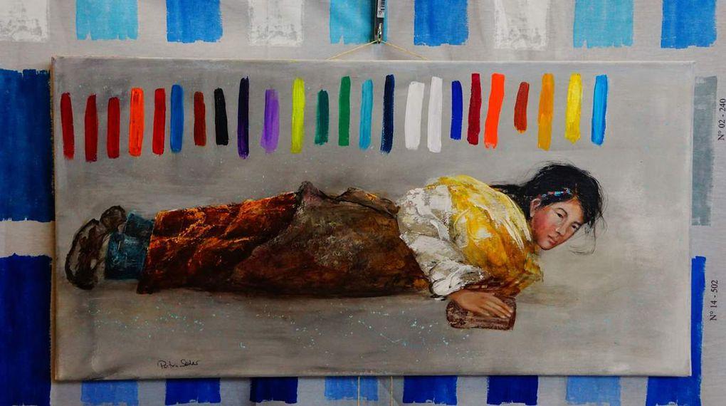 Mit Malerei und Grafik-Arbeiten verschönten Katrin Ziegler aus Margetshöchheim sowie aus dem Ort Petra Söder, Helmut Wieden, Siegfried Franz und Erika Schulder die Ausstellung.