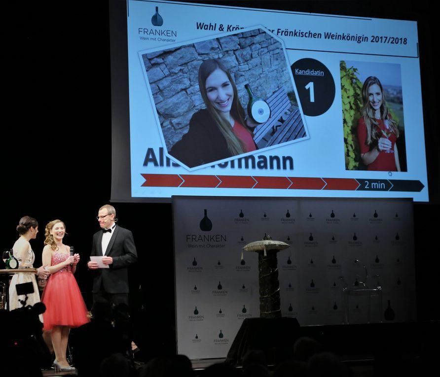 Zunächst befragten die Moderatoren die drei Kandidatinnen zehn Minuten lang nach persönlichen Vorlieben. Dabei hatten sich auch ein eigenes Selfie zu interpretieren: Alisa Hofmann zu Wein, Weib und Gesang, Silena Werner eine Zahnbürste für den Weinstein und Miriam Kirch eine Schatzkiste mit Weinstein.