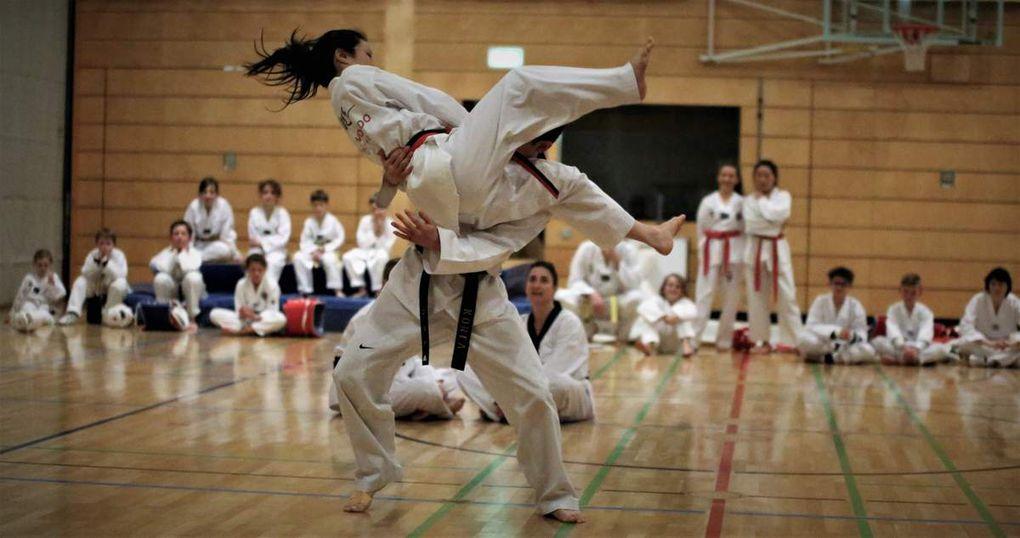 """Aus ihrer großen Angebotspalette demonstrierte die TGV im Bereich des Breitensports """"Taekwondo in der TGV – ein Sport für die ganze Familie und alle Altersgruppen"""" mit Trainer Sangmin Nam. Mit einer tollen ostasiatischen Kampfkunst-Show gab die Abteilung Einblicke, was Kinder, Jugendliche und Erwachsene bei ihr in der Rudi Sebold-Halle im TGV-Sportzentrum mittwochs und freitags trainieren."""