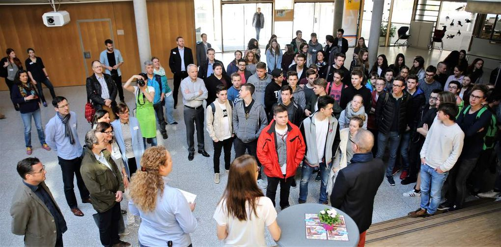 Eröffnung des Berufsinformationstages durch Schulleiter Dieter Brückner