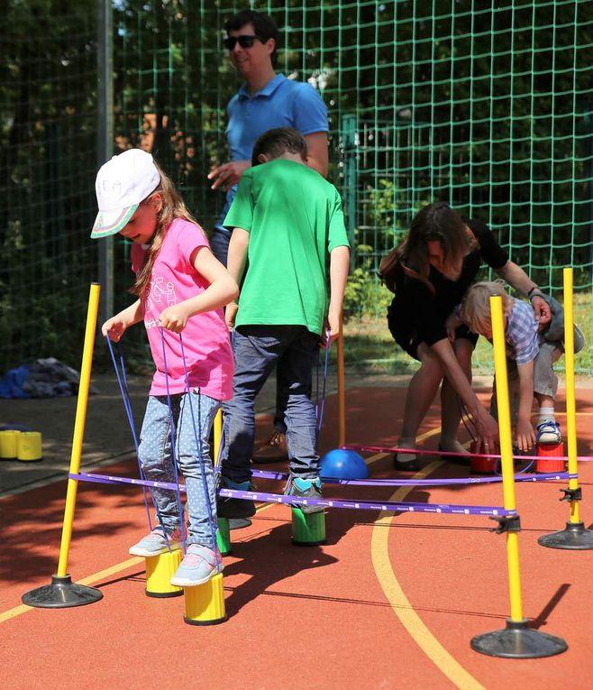 Austoben konnten sich die Kids auch auf dem Pausenhofplatz.