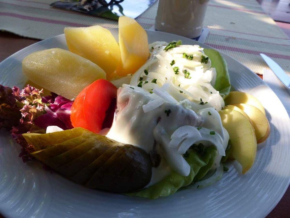 """Der Schlusshock führte zum weithin bekannten Gasthaus """"Walberla""""  in Kirchehrenbach auf den Tafelberg Walberla mit dem traumhaften Blick ins Regnitz-, Ehrenbach- und Wiesenttal. Die Wirtin ist ein Veitshöchheimer """"Mädle"""" und stammt aus dem Gasthaus """"Fischerbärbel"""" an der Mainlände."""