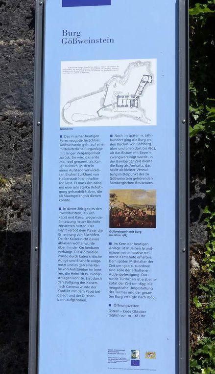 Eine Augenweide ist auch die über 1.000 Jahre alte Burg Gößweinstein, ebenfalls in Privatbesitz, deren Zugang leider entgegen der Ausweisung wie in Pottenstein verschlossen war.