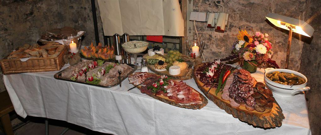 Dieses zur Weinprobe vortrefflich servierte kalte Buffet trug die Handschrift von Ursula Heidinger.