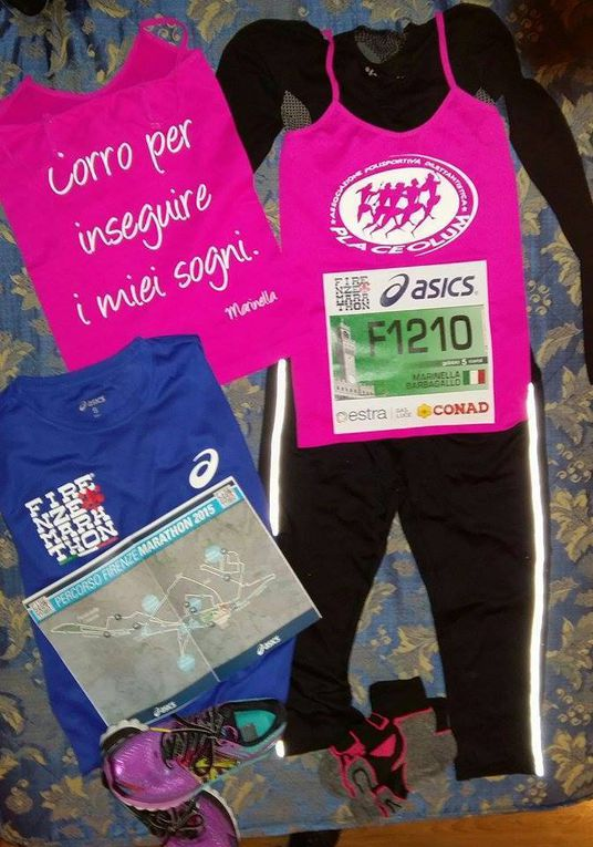 Firenze Marathon 2015 (32^ ed.). Marinella Barbagallo ha corso per inseguire i suoi sogni