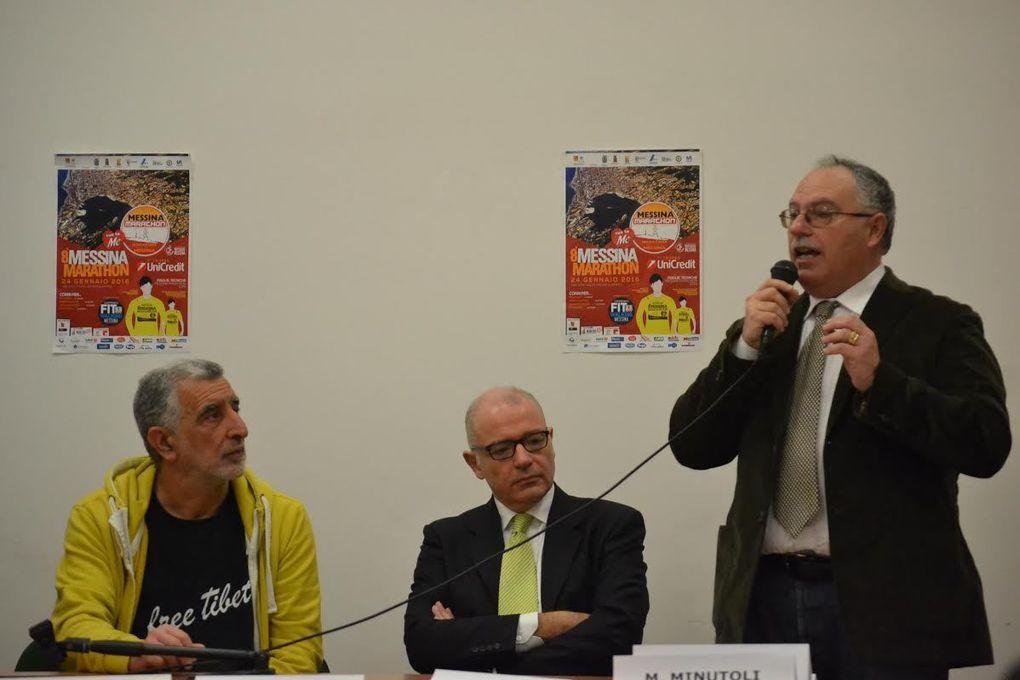 Messina Marathon 2016 (8^ ed.) - 7° Trofeo Unicredit. Si è alzato il sipario sull'evento, con la conferenza stampa di presentazione