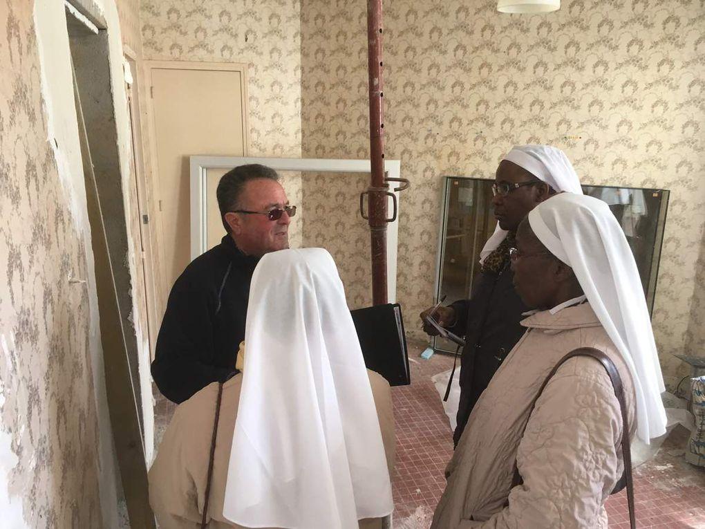le Relais paroissial en plein travaux…la visite des soeurs de l'Annonciation...dernières images