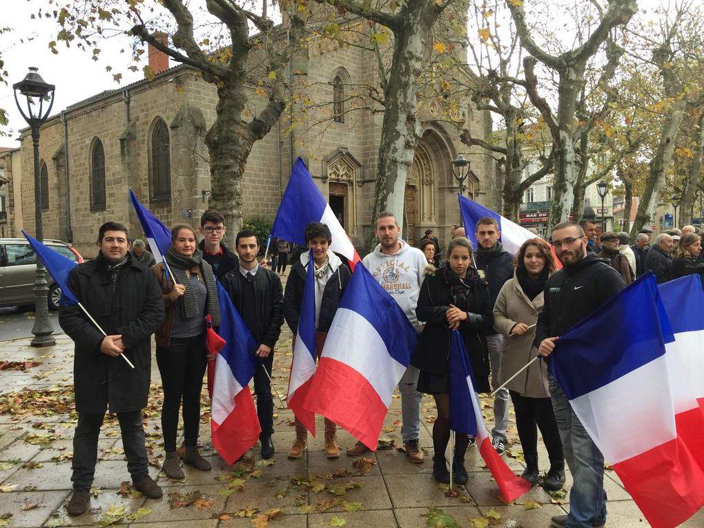 11 novembre : Le FNJ 42 à Feurs, aux côtés de Sophie ROBERT pour rendre hommage à ceux qui nous ont permis de rester français.