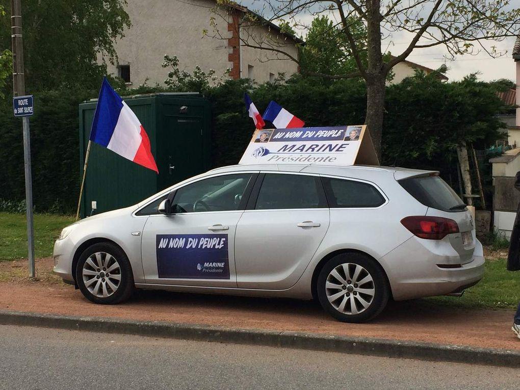 La Caravane du FN Loire avec Sarah BROSSET dans la 5ième Circonscription !