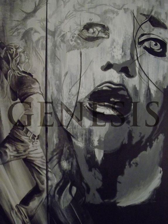 GENESIS - Fresque à 4 mains - GEDEON et Julie WALLOIS