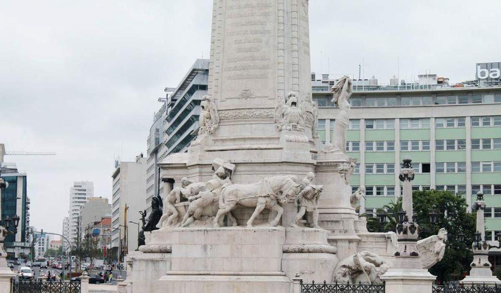 Un p'tit tour dans les quartiers nord de Lisbonne ... la place du marquis de Pombal, le parc Edouard VII, le musée Gulbenkian