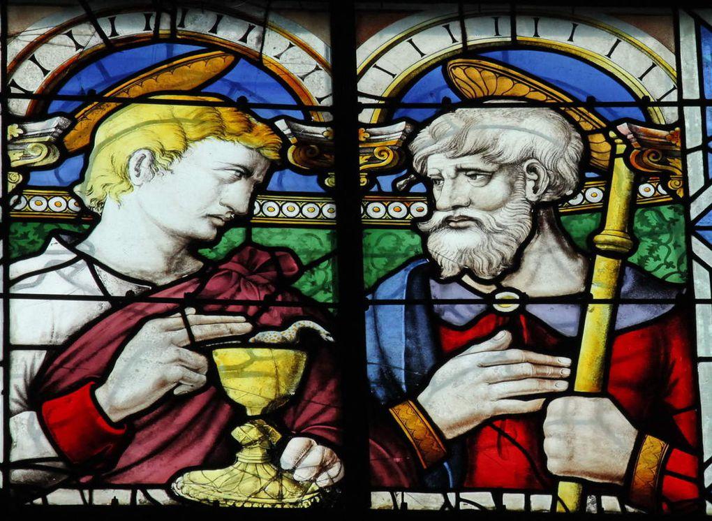 Saints Jean et Jacques le Majeur. vers 1550, Baie 106, cathédrale d'Angers, photo lavieb-aile