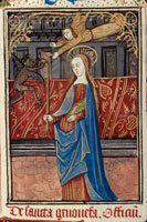 Quelques enluminures du miracle du cierge de sainte Geneviève sur le site www.enluminures.culture.fr