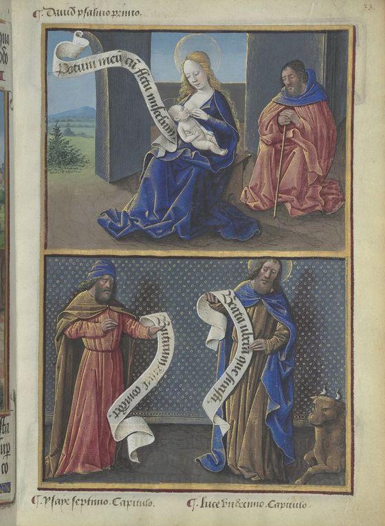 La Sibylle Cimmérienne selon Baccio  Baldini (1470-1480), Filippo Baldieri (1481),  les Heures de Louis de Laval (avec la page de typologie en regard).