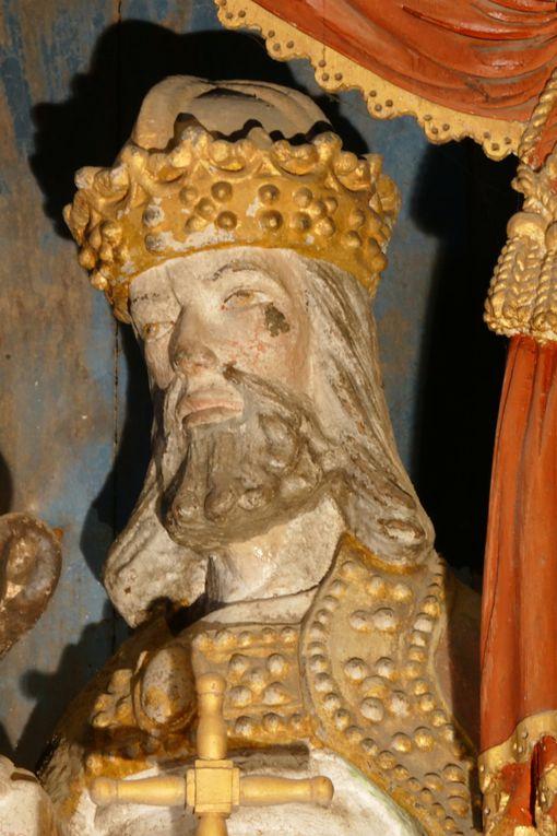 Retable de la Sainte Trinité, (XVIe siècle), église Sainte-Marie-Madeleine de Dinéault. Photographie lavieb-aile février 2017.