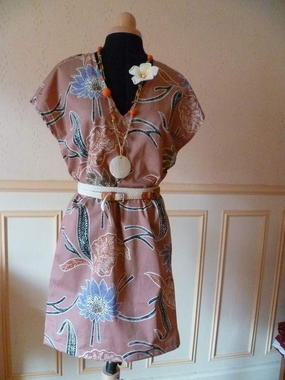 Robe-polo et robe-tunique (sans ceinture), alliées d'une grossesse toute en confort