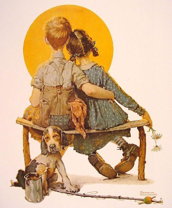 Le couple, avec Norman Rockwell