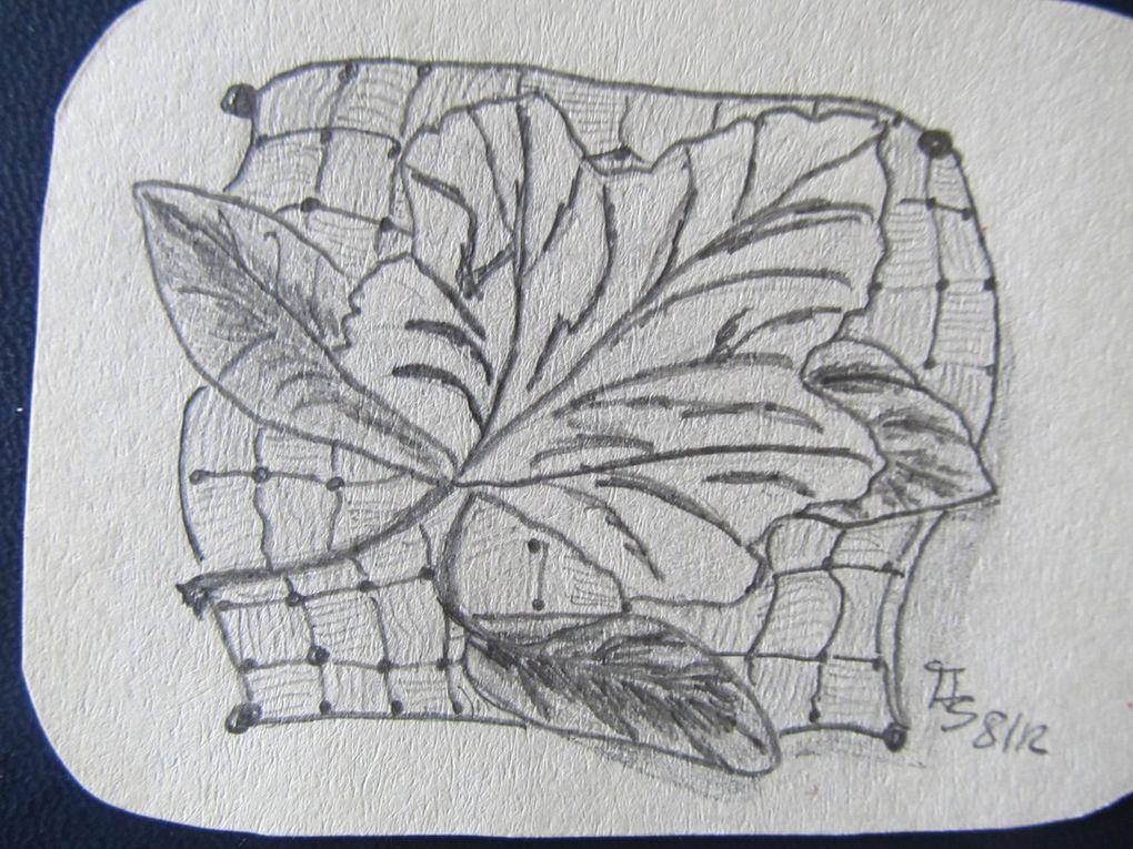 Zentangle, kleine Bleistift/Feinliner Zeichnungen