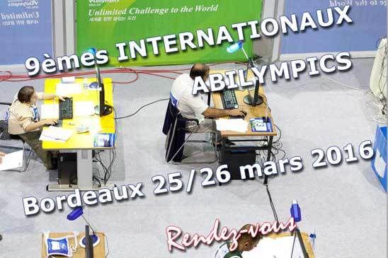Abilympics 2016 - Bordeaux 25 et 26 mars 2016