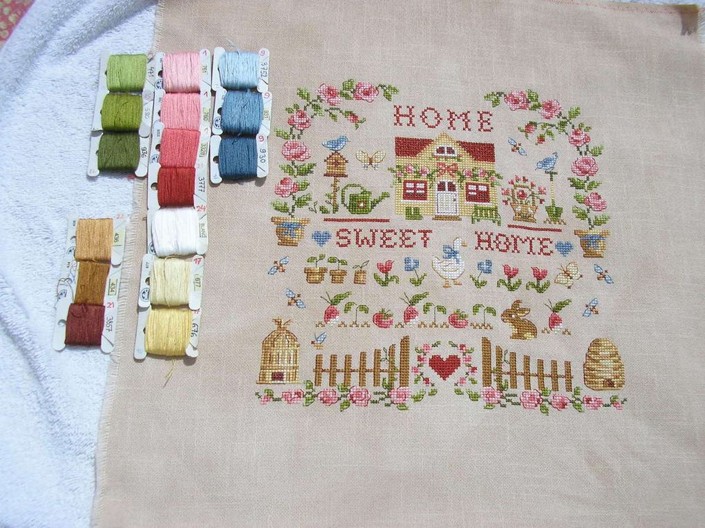 Tableau &quot&#x3B;Home Sweet Home&quot&#x3B; de Véronqiue Enginger