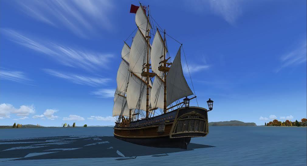 Le gagnant : Patrick Pouillat, Le superbe freeware HMS Bounty aux environs de Port Alice