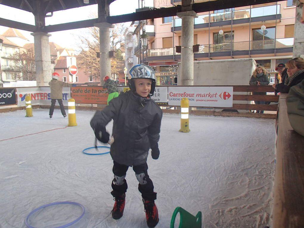 Première séance de patinoire