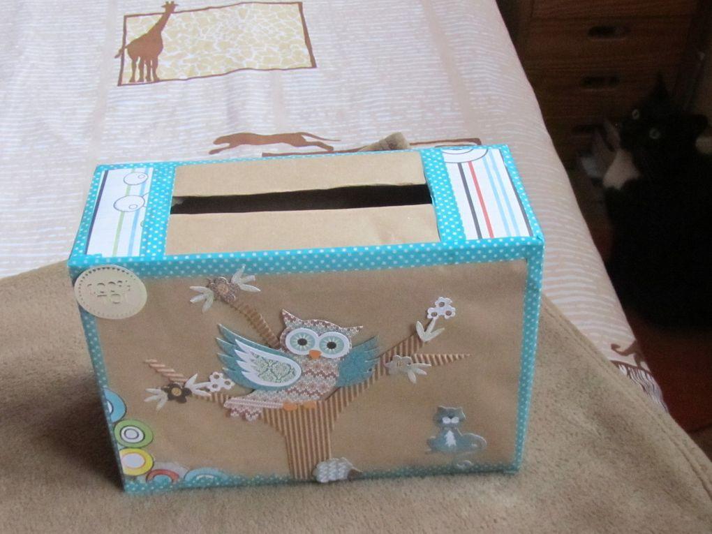 La boite à enveloppes que je lui ai faite .