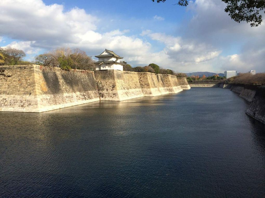 We visited Osaka Castle Park and Dotonburi and our view from Sheraton Hotel