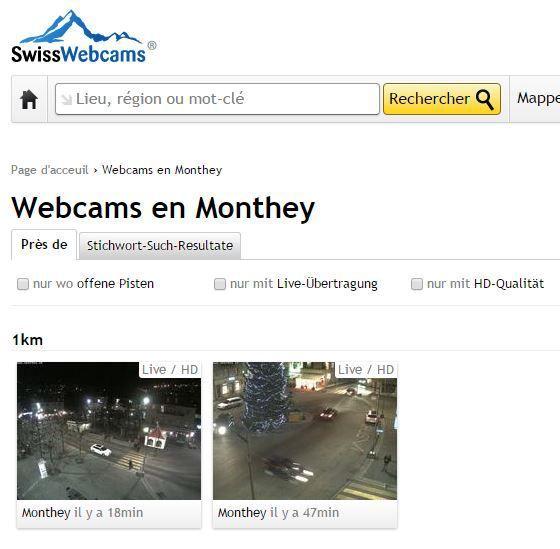 Les images des deux webcams de la place Centrale tournent en boucle sur plusieurs sites web étrangers !!!