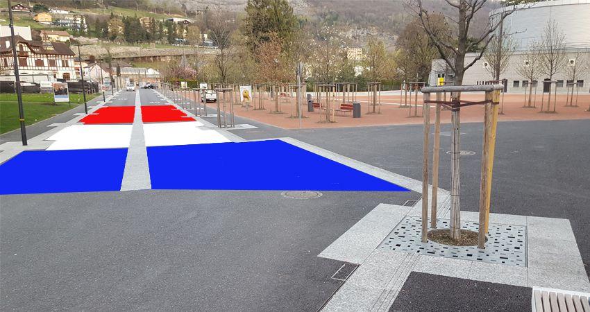 L'avenue de la Gare, l'Avenue du Théâtre et la rue du Coppet vont devenir tricolores durant un mois