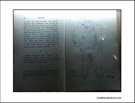 Jean Cocteau et Marcel Khill - Cocteau - livre de Max Jacob - Opium - Buste de Cocteau