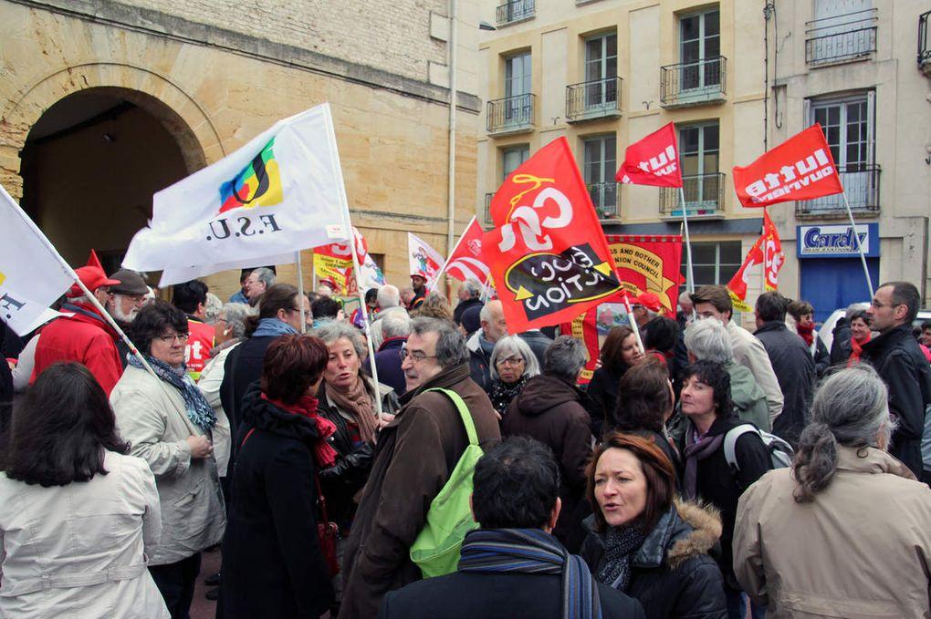 Meeting place Louis-Vitet, et Manif dans les rues de Dieppe