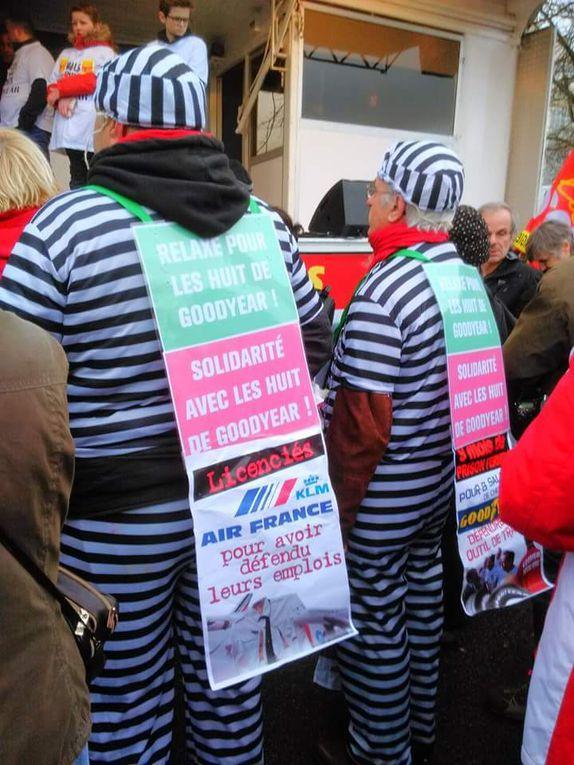 Par milliers en soutien aux &quot&#x3B;Goodyear&quot&#x3B; et contre la répression syndicale
