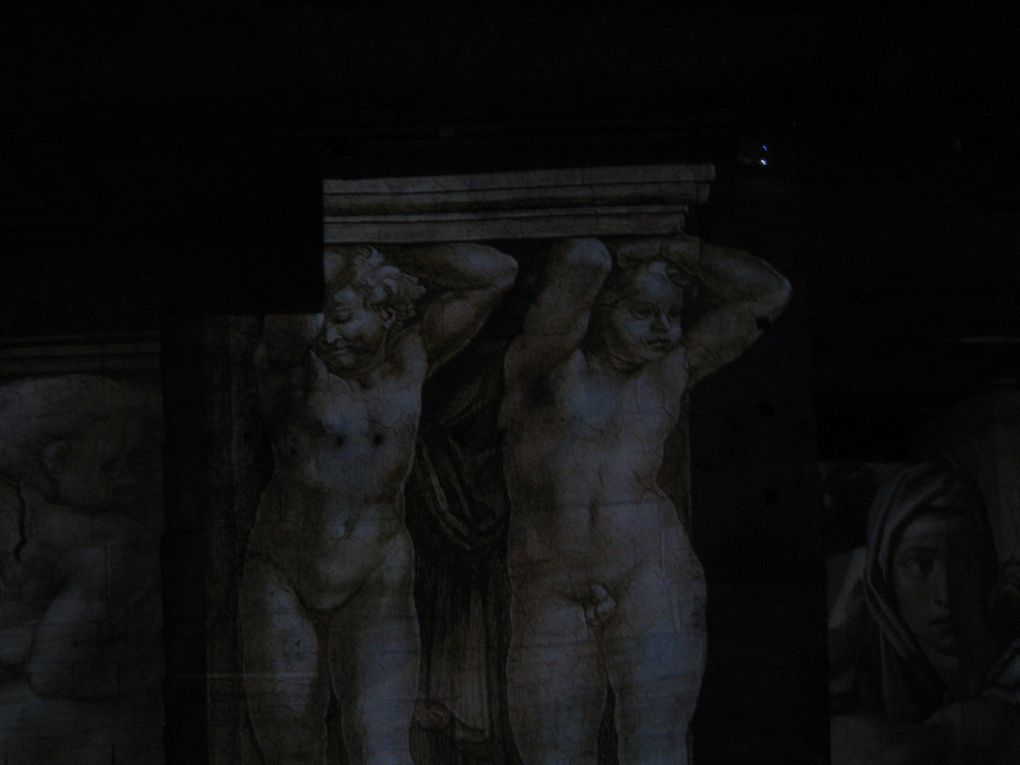 """Très belle exposition aux """"Carrières de lumières"""". En ce qui concerne mes photos la lumière m'a fortement manqué. J'ai tout de même mis les photos pour mémoire."""