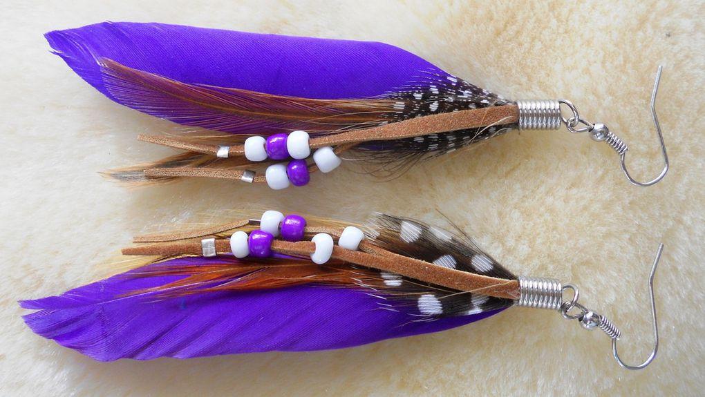 Boucles d'oreilles artisanat indien