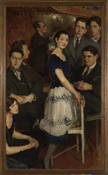 Quelques-unes des toiles présentes à l'exposition de Deauville