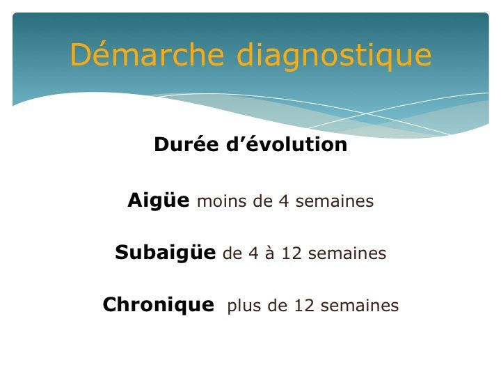 Le &quot&#x3B;mal de dos&quot&#x3B; de l'Aigu au Chronique -  DPC