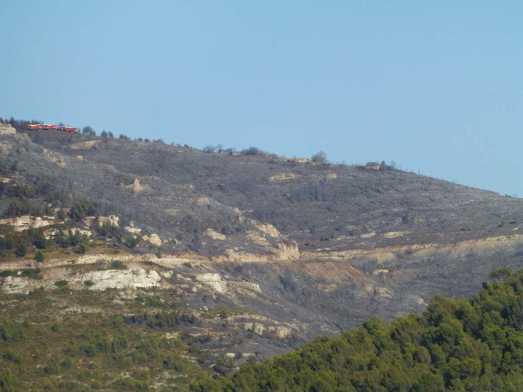 Incendie au Col de la Gineste...